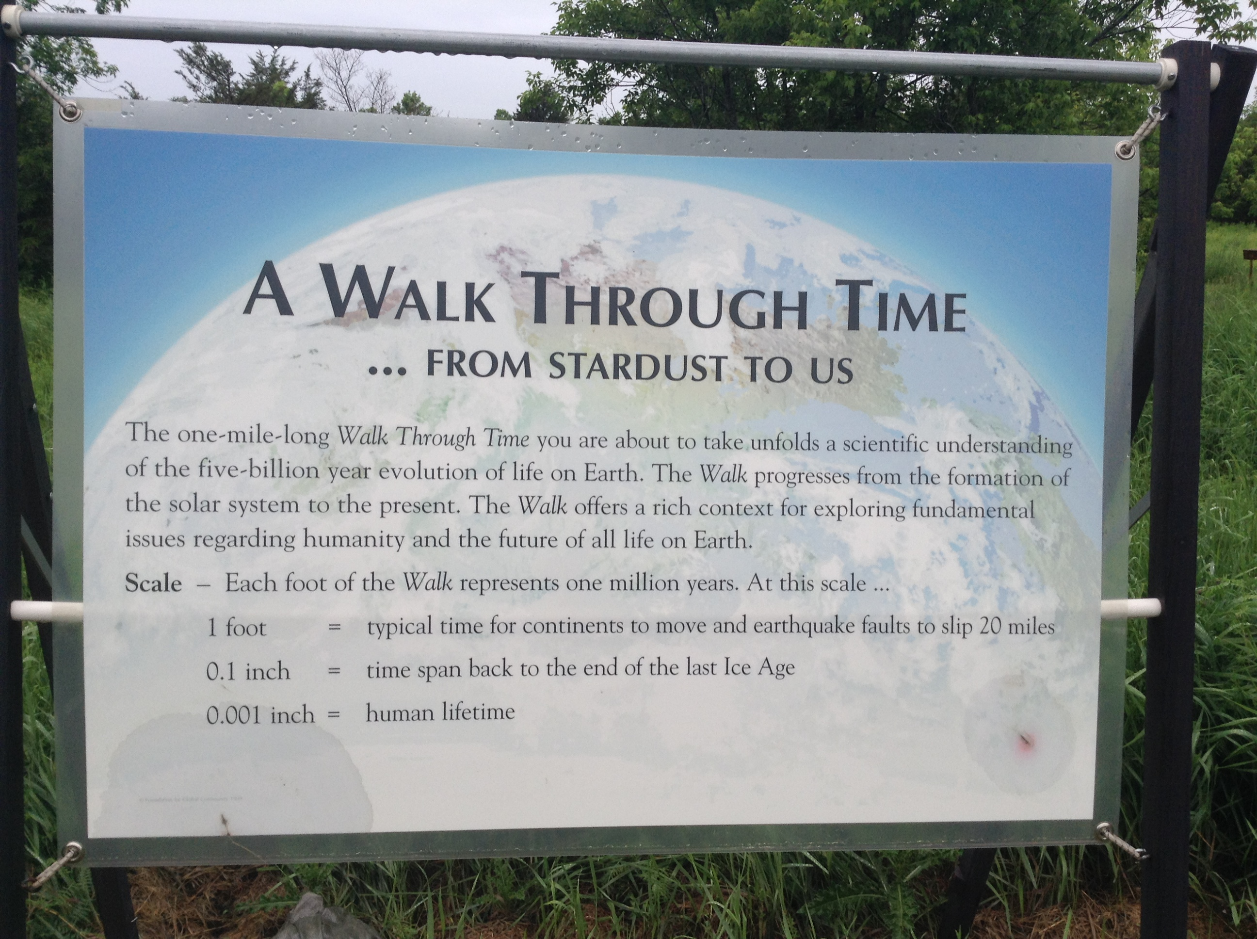 Walk Through Time Trail
