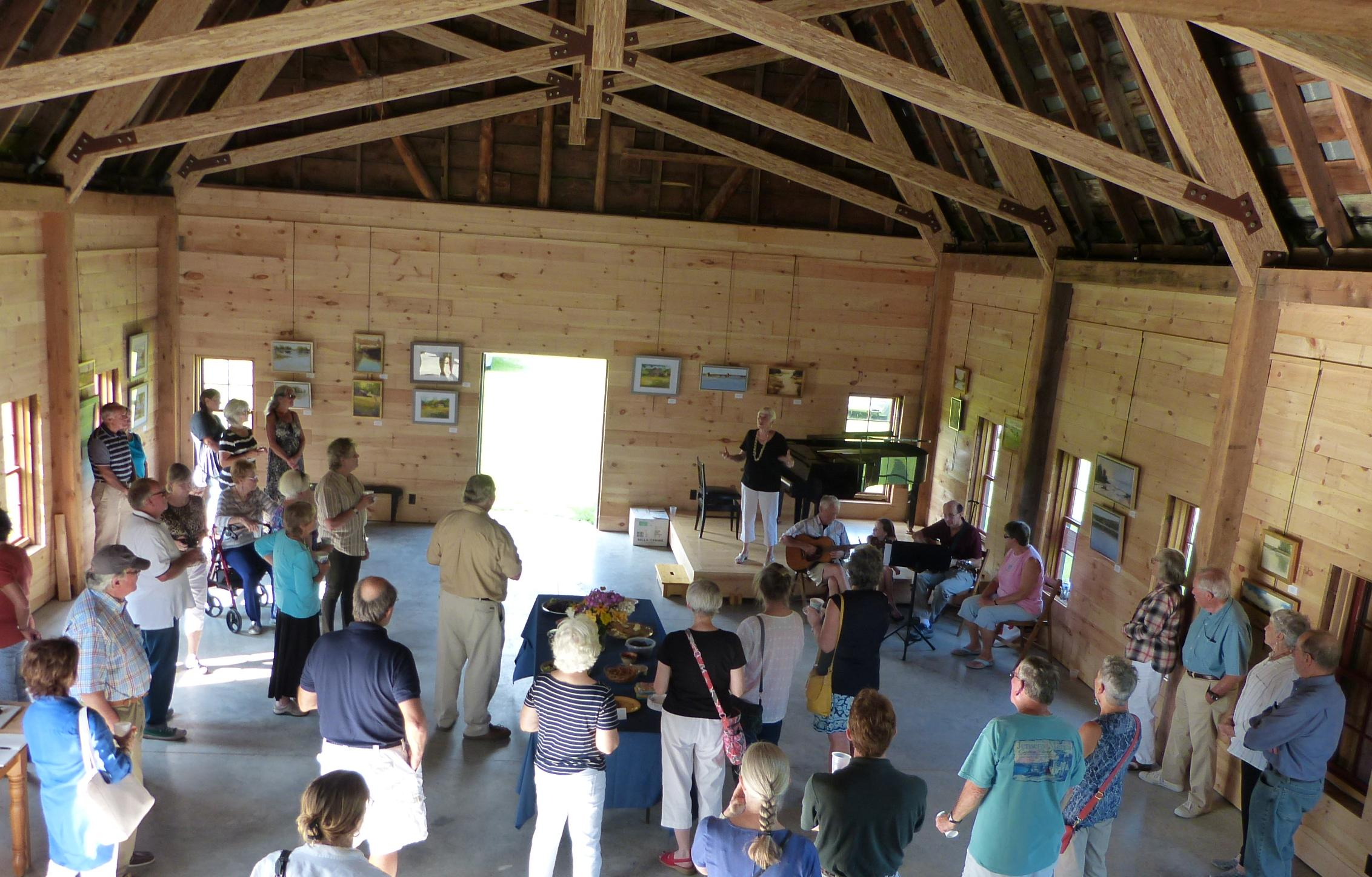 The North Room of the  Conservation Barn serves for community gatherings and events.