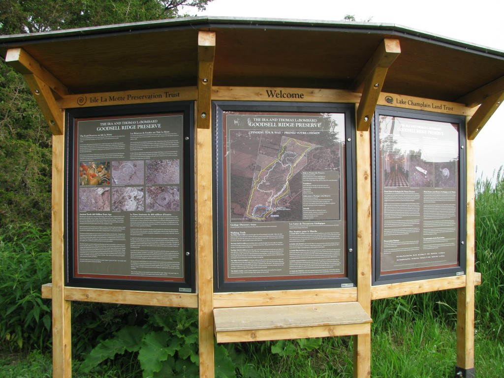 Kiosk at the Goodsell Ridge Preserve