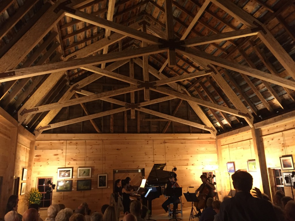 August 25, 2018. First Pro-Series Concert in the newly renovated Conservation Barn