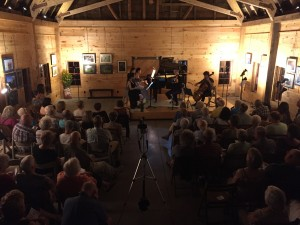 August 25, 2018 Our first Pro-Series Concert in the Conservation Barn on the Goodsell Ridge Preserve